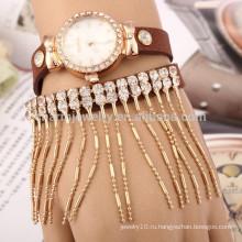 Корейский бархат моды творческих кварцевых часов алмаз кисточкой браслет дамы часы оптовой BWL017