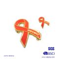 Brustkrebs Pins Brosche Abzeichen Ribbon Emaille Pin Badge