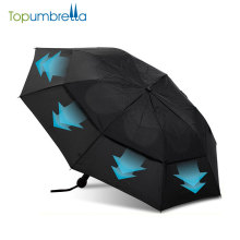 o auto do mercado abre a guarda-chuva à prova de vento forte da dobra da camada 2 da dobra dobro para venda