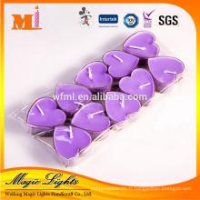 Bougie parfumée en forme de coeur pour la Saint-Valentin