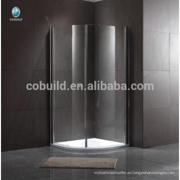 cabina de ducha de lujo popular Sala de ducha de cristal deslizante sin marco