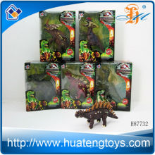 2013 Hot sale plastic animal toys dinosaurs sets small animals plastic toys for kid