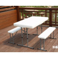 3PCS Plastic Folding Table and Bench Set