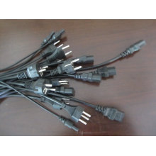 European VDE schuko/VDE/EU plug power cable