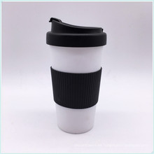 Eco-Friendly función y tazas y platillos BPA libre de plástico PP taza de café con tapa