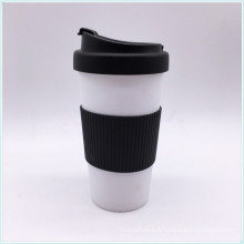 Tasse de voyage Double Wall Plastic Car Cup Auto Mug Plastic Double Wall Coffee Mug
