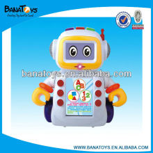 Robot learning toy learning machine with light and sound