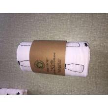 Nach dem Waschen Bio-Baumwollgewebe gedruckt Baby Bio-Baumwolle Decke