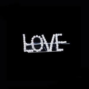 """Crystal Letter """"LOVE"""" Pinzas para el cabello de moda"""
