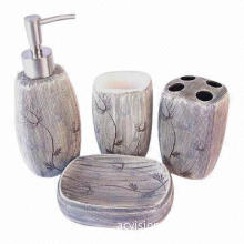 New Design Ceramic Bathroom Set, Suitable or Hotels, Hand-painted and Decal Bathroom Accessories