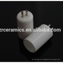 Tapas de cerámica de alúmina de alta resistencia.