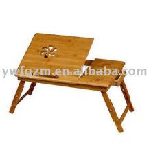 Mesa de laptop dobrável de bambu