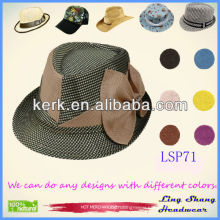 LSP71 2014 Big Bowknot Bucket Hat,100% Nature Paper Straw colorful bucket hat