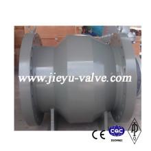 Válvula de retenção de fluxo axial de aço fundido
