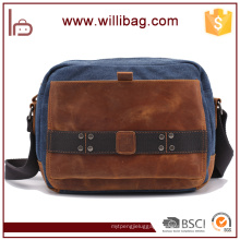 China Factory High Quality Canvas Vatange Messenger Bags Man