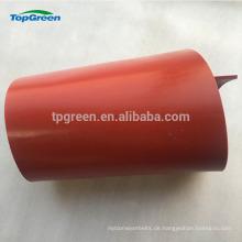 rotes transparentes Silikonisolierungsgummiblatt für Verkauf