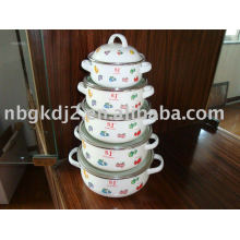 10pcs enamel casserole set with metal lid