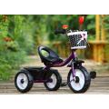 Paseo al por mayor barato del bebé de la fábrica en niños del triciclo de los niños de los juguetes con la barra de empuje