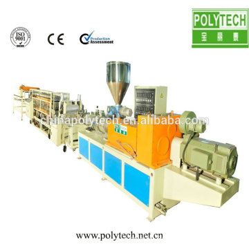 pp pe roof tile production line /plastic tile recycle making machine