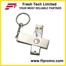 Флэш-накопитель USB с вращающимся металлом (D301)