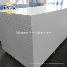 jinbao pvc meubles matières premières 4x8 ft 18mm forex feuille / panneau / conseil