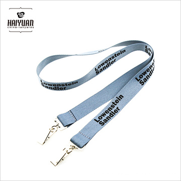 ID Lanyards con doble dobles Bulldog Clips