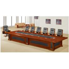 Mesa de reunión de muebles de conferencia de oficina de madera de cerezo