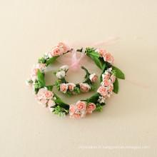 guirlande de fleurs pour les filles de bébé / guirlande de mariée pour les enfants de mariage de partie / guirlande de cheveux de main