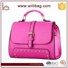 Sacola colorida do couro da bolsa da mulher do projeto original