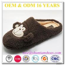New arrival monkey design adults indoor plush slipper