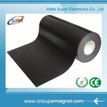 Ímã de borracha magnética flexível autoadesivo de PVC com rolo de tira