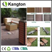Deckings compostos plásticos de madeira (decking de WPC)
