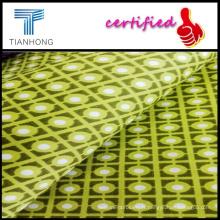 Satin de haute qualité avec géométrie Patterns/coton Spandex teinture réactive/Satin Satin tissu mélangé
