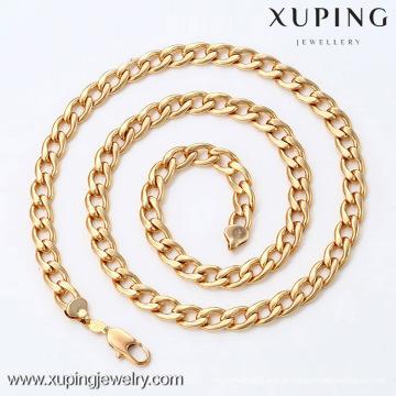 42335- Xuping Men Fashion Colar Com Ouro 18K Banhado