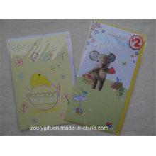 Impresión personalizada Tarjeta de felicitación y Envuelva para Feliz Pascua