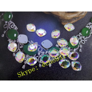 Flat Back 13*16 Ab Glass Stones for Wholesale (DZ-1224)