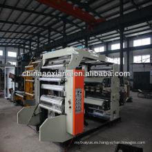 Encuentre los detalles completos sobre la máquina de impresión flexográfica a color AX-4