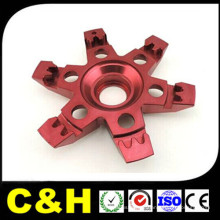 China Fábrica de alumínio CNC usinagem de peças para anodização