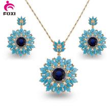 Оптовый ювелирный завод Бразилии серьги ожерелье набор ювелирных изделий