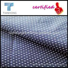 Polka Dot Plain Weave Poplin Cloth/Printed Dots Cotton Shirting Fabric