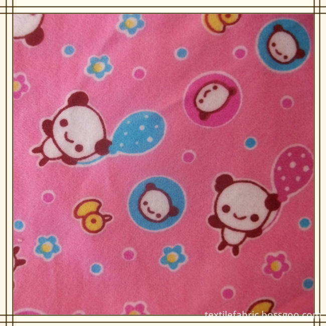 100% cotton flannel fabric for baby bedding