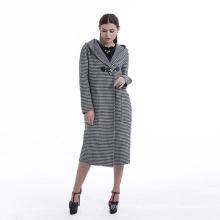 Casaco de caxemira casaco de inverno quente com chapéu