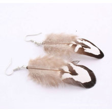 Wholesale Custom Cheap Peacock Feather Earrings