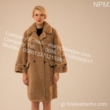 Ισλανδική Lamb Fur Outward Coat Lady