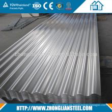 Hoja de techumbre acanalada galvanizada aluminio al por mayor del cinc del acero del metal