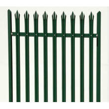 Euro Style Free Standing Metal Palisade Fence / Forged Iron Fence Panel