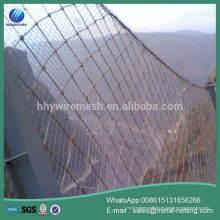 rockfall netting huahaiyuan fábrica produce rock caída barrera red