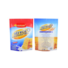 Eco Recycled Ziplock Sealed Grain Flour Packaging Stand up Pouches Granola Food Packaging Bag