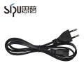 SIPU alta calidad estándar de la UE cable de alimentación enchufe de 2 pines para PC