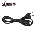 SIPU high quality EU standard type power cord 2 pin plug for PC